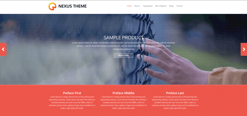 Nexus Theme Is An Elegant And Flat Responsive Drupal Design This Could Easily Be Used For A Blog Small Business Portfolio Or Variety Of